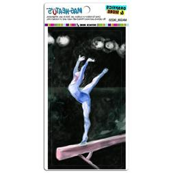 Graphics and More Gymnast Blue Gymnastics Vault Pommel Horse
