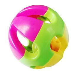 Haibei 3.15inch Baby Colorful Rattle Bell Ring Ball Take Alo