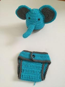 Hand Crochet Elephant Outfit For Newborn , Baby Photography