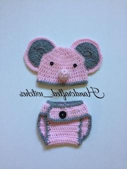 Hand Crochet Elephant Outfit For Newborn , Baby Elephant Pho