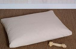 Home of Wool / Handmade Wool Filled Pet Bed / Natural Dog Be
