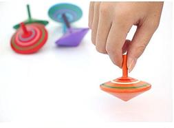 Mini Wooden Spinning Top, Pack of 3