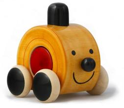 Handmade Wooden Cute Push Toy made using Natural Colors for