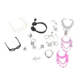 40pcs Fashion Headset glasses Jewelry Necklace Earring Shoes