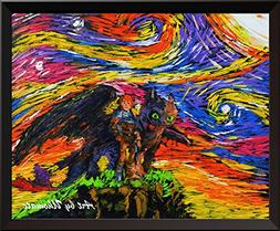 Uhomate How to Train Your Dragon Wall Decor Vincent Van Gogh