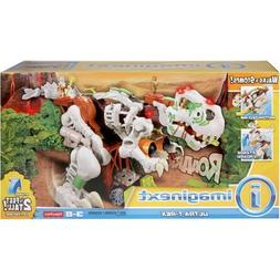 Kids Fisher-Price Imaginext+Ultra T-Rex in White, Makes Real