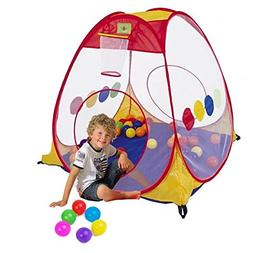 COFFLED Indoor &Outdoor Poop Up Playtent with 50 PCS BPA Fre