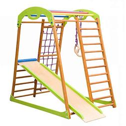 Dani LLC Indoor Wooden Playground for Kids SportWood Indoor