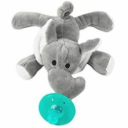 Tinabless Infant Pacifier Plush Elephant Silicone Teether Ho