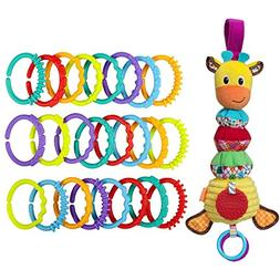 Infantino Hug and Tug Musical Giraffe with Activity Links