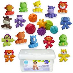 Infantino Textured Multi Ball, Tub of Toys and Snap & Pop Pa