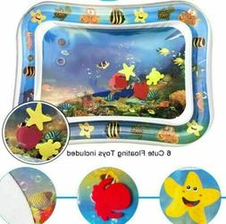 Inflatable Water Play Mat for Infants & Toddlers Fun Tummy T