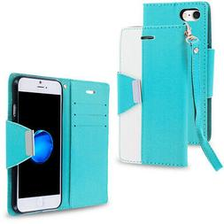 For iPhone 7 Plus  Metal Flap Wallet Case Pockets Slots Baby