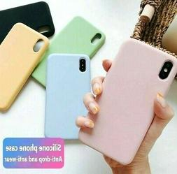 For iPhone X XS Max XR - Slim Soft Smooth Liquid Silicone No