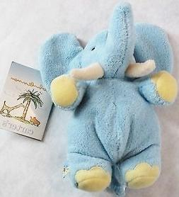 John Lennon Blue Elephant Baby Rattle Plush Toy - Real Love