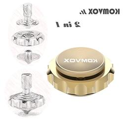 KOMVOX Jr. 2 IN 1 Fidget Spinner Metal Finger Spinning Top B