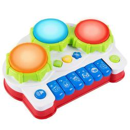 Keyboard Piano Drum Set for Baby Infant Toddler Learning Act