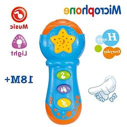 GAMZOO Kids Blue Microphone Toy Music Player for 18 Months a