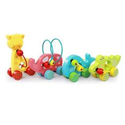 Kids Infant Animal Wooden Pull Toys Preschool Baby Education