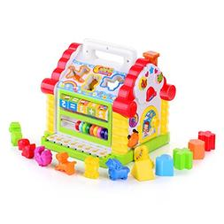 TOYK Kids toys Musical Colorful Baby Fun House, Many Kinds O