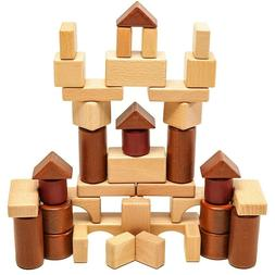 Kids Wooden Building Blocks Educational Construction Toys To