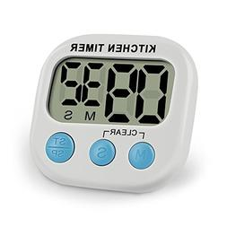 IEKA Digital Kitchen Timer,Minute Second Count Up Countdown,