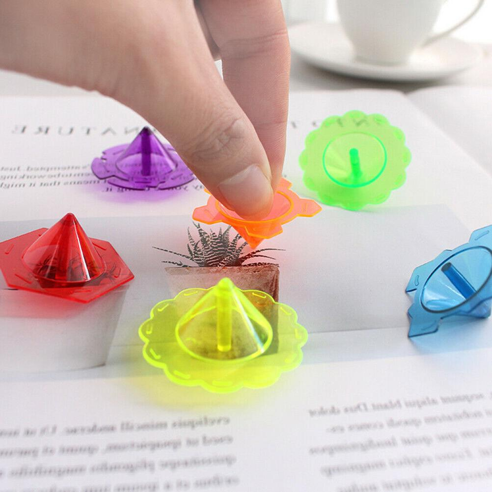 100 Pcs Spinning Top Plastic Educational Funny Gyroscope Toy