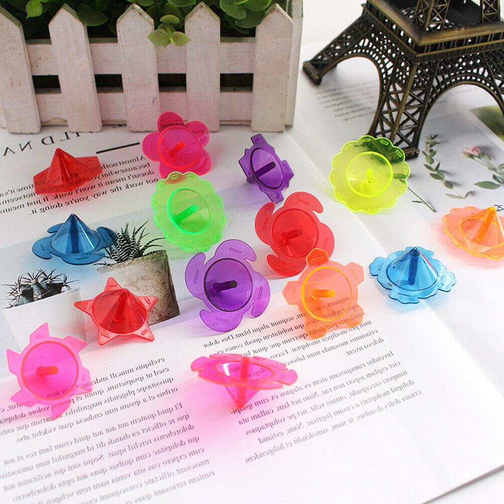 100 Pcs Spinning Top Hand Twisting Attractive Funny Spinning