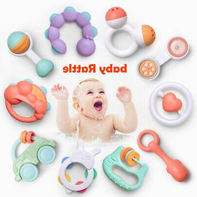 10pcs Rattles Teether Shaker Rattle Musical for