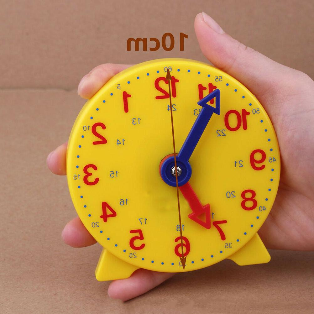 1pc Clock Round Early Education Learn Time Clock Desktop Tea