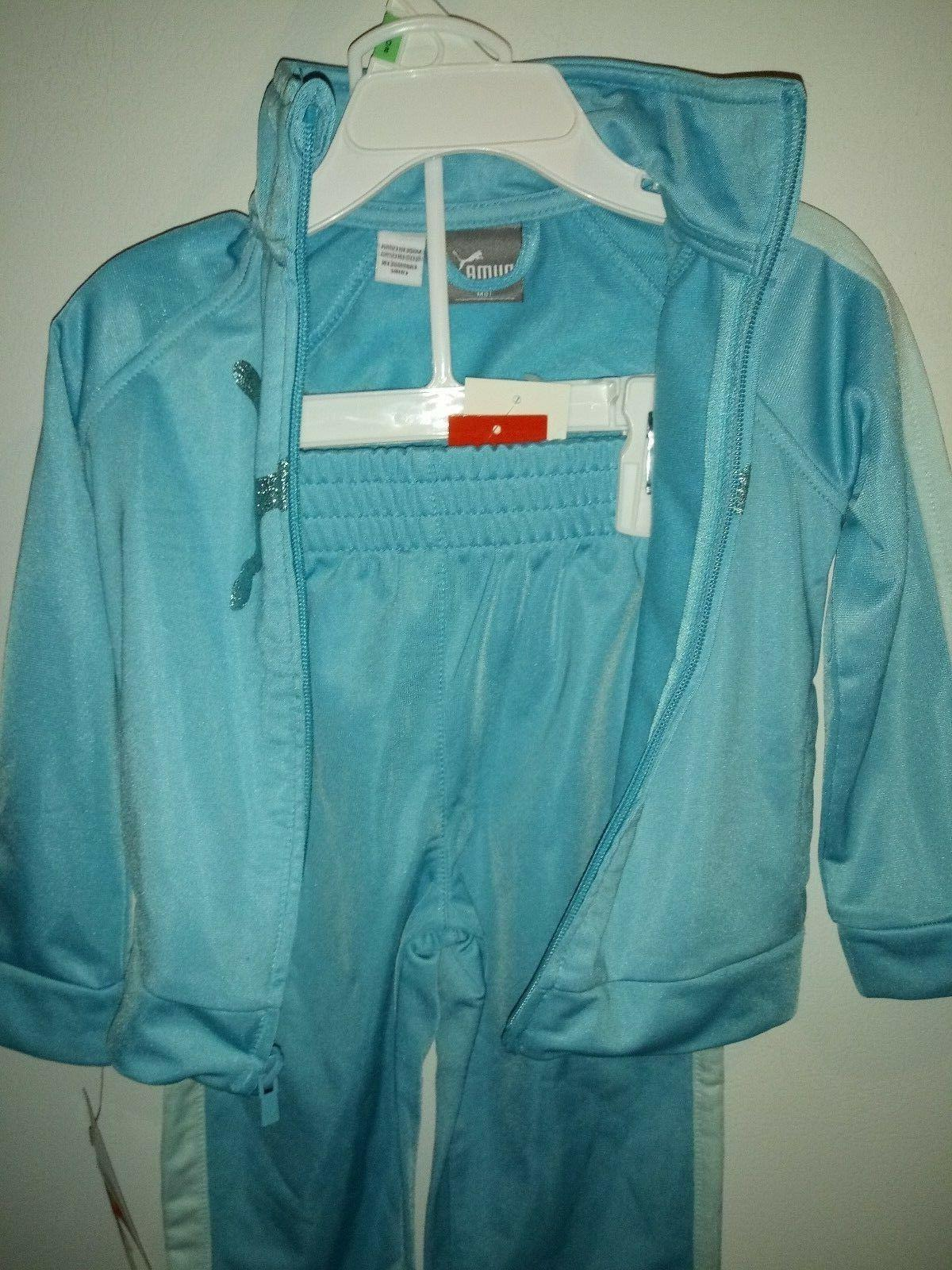 Puma set for babies Toddlers girls various blue