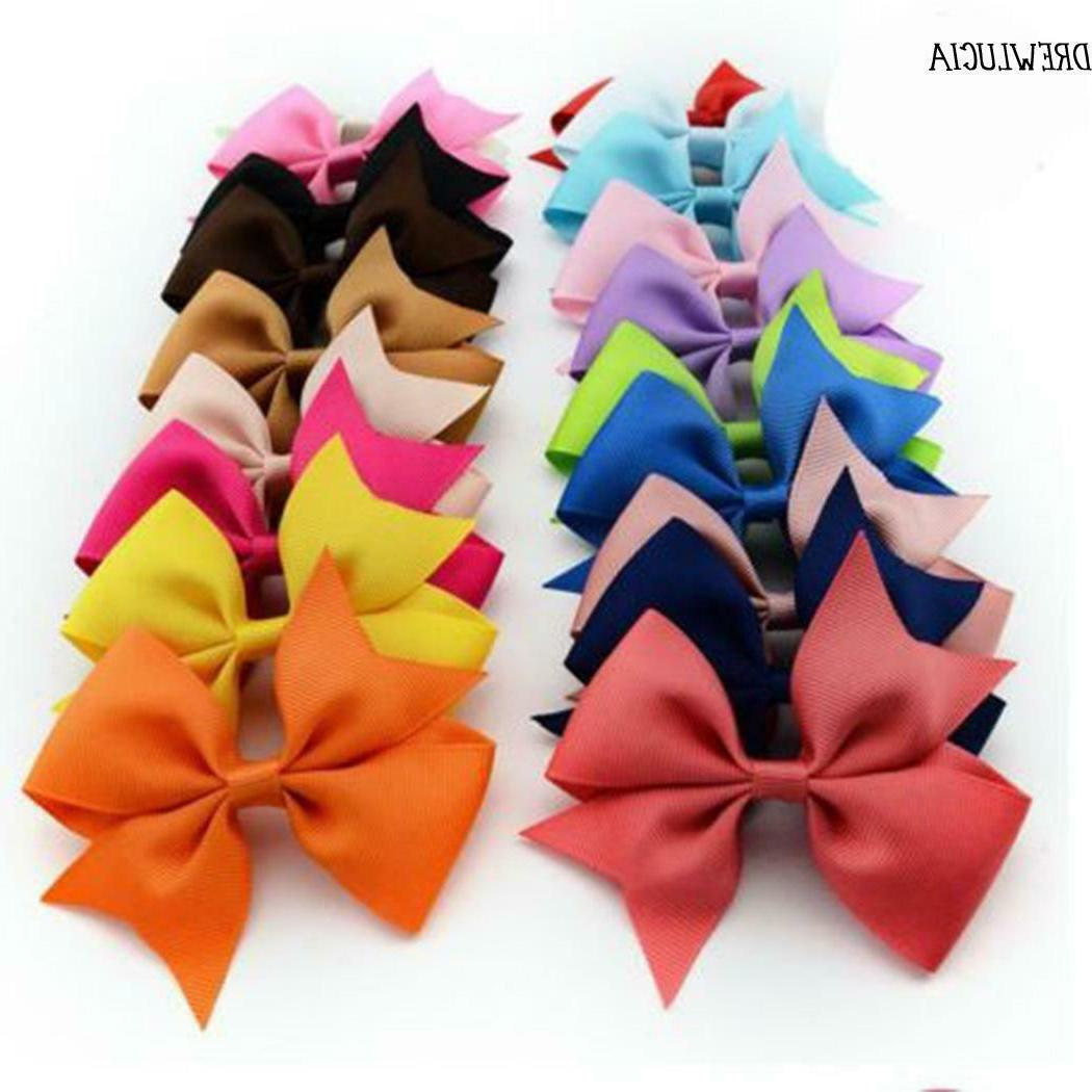 20 pcs Baby Girls Hair Bows For Hair Alligator Clips