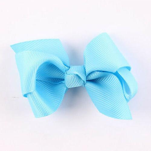 20Pcs Hair Band Boutique Alligator Clip Ribbon For Girl Baby Kids