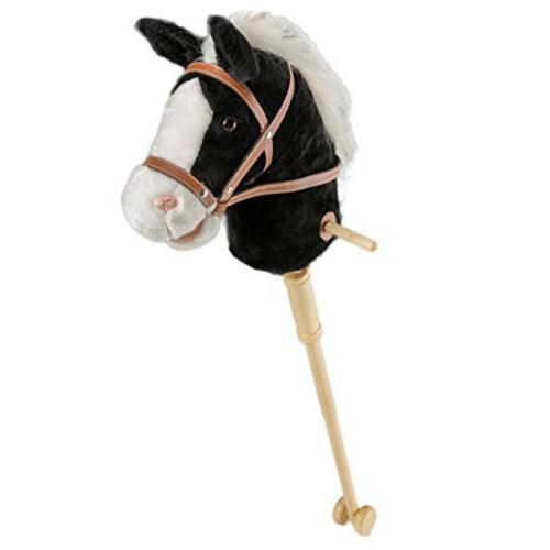 """36"""" Horse Stick with Sound Toy Gift for Kid Baby Boy Black"""