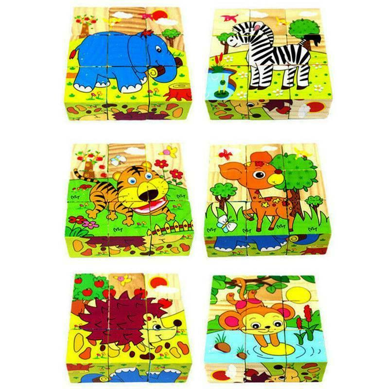 3D Wooden Puzzles Preschool Set For