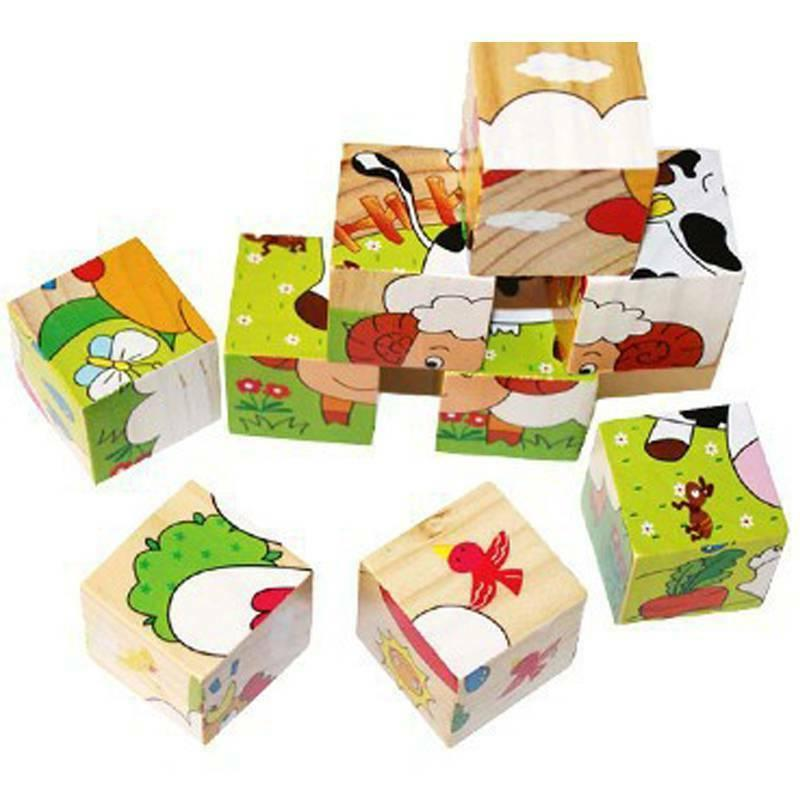 3D Animal Wooden Puzzles Puzzle Learning Set For