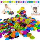 800 pcs 3D Puzzle Number Snowflakes Building Blocks Educatio