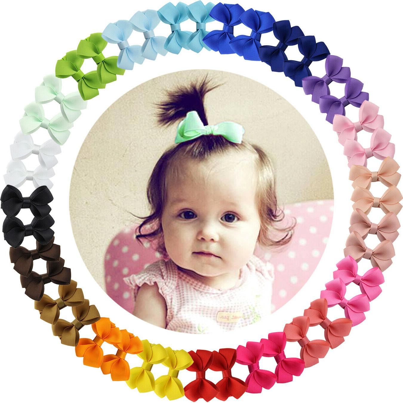 40pcs boutique 2 inch hair bows fully