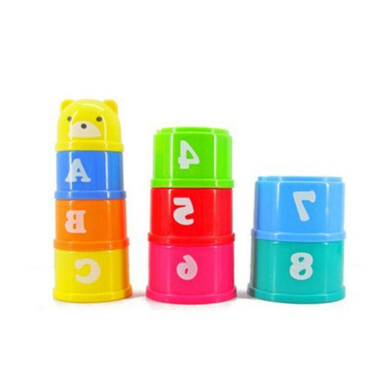9Pcs Stacking Cups Educational Toys Set for Kids