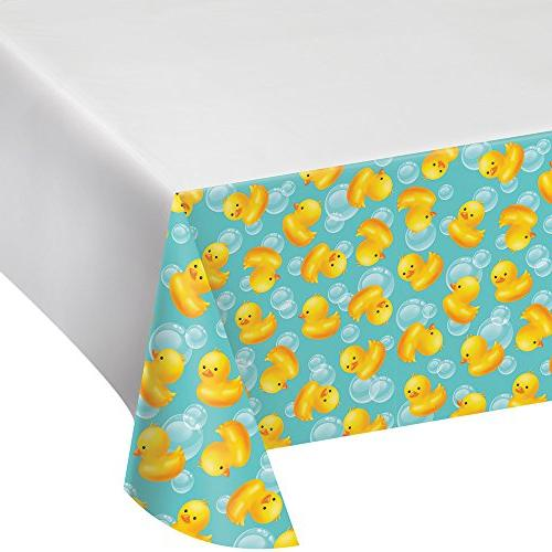 """Creative Converting 727058 Plastic Tablecover, 54"""" x 102"""", M"""