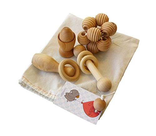 Intuitoys Montessori Inspired All Natural Wooden Baby Develo