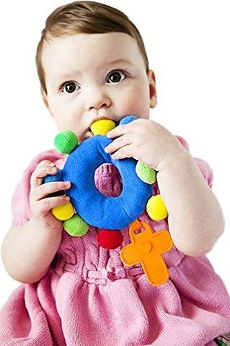 """BABY ROSARY """"My First Rosary"""", PLUSH MARIAN BLUE RATTLE"""