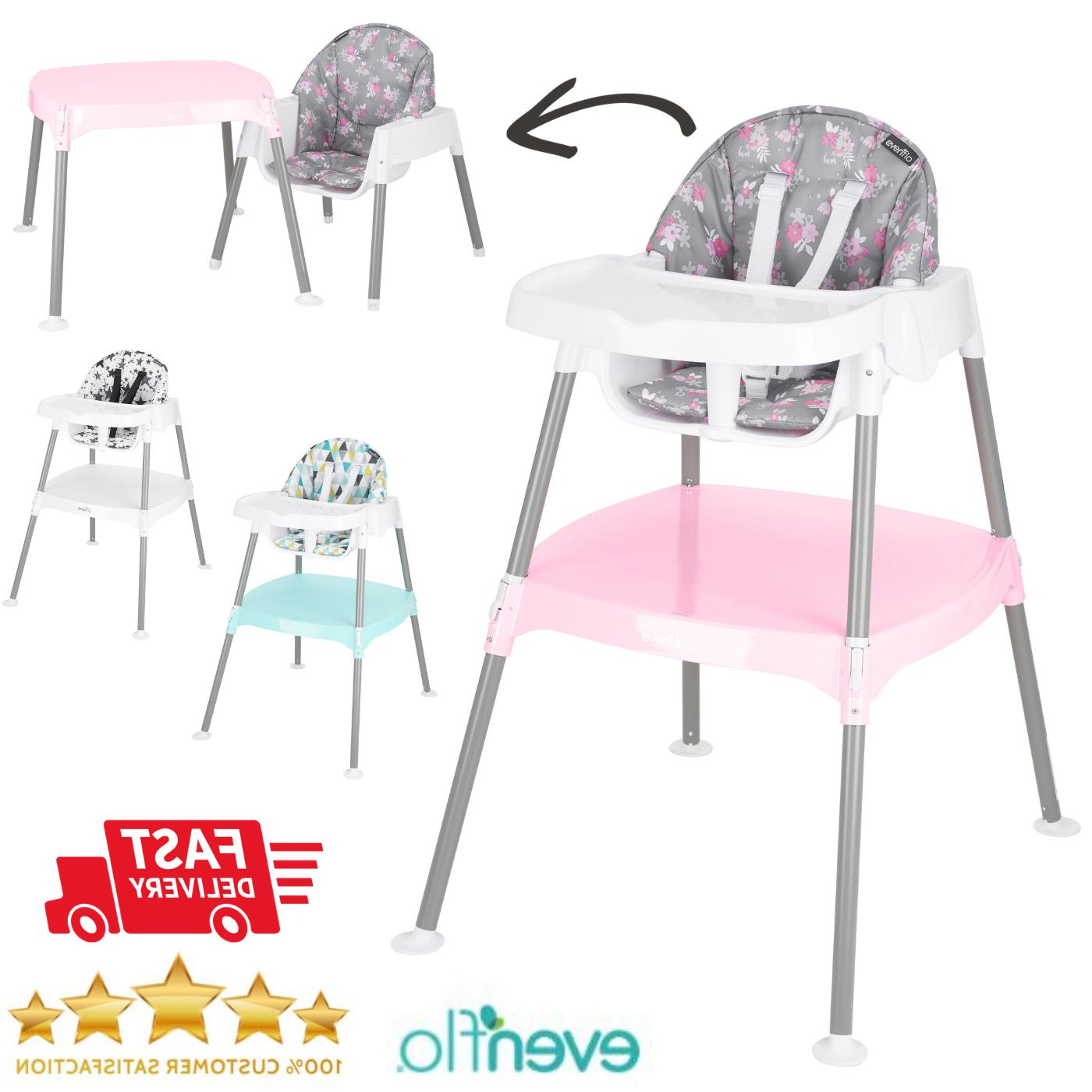 adjustable high chair 4 stage eat convertible