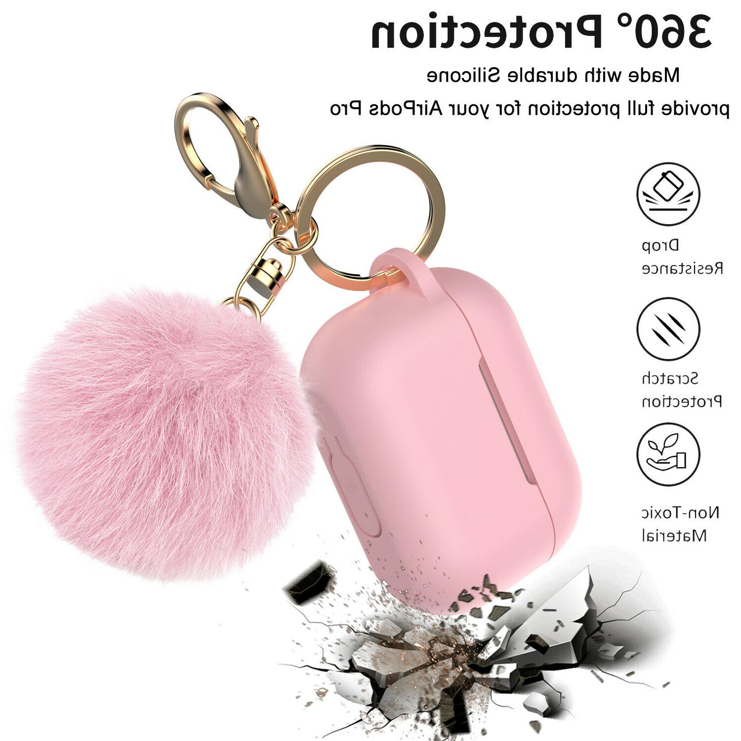 For Pro 3 Silicone Charging Case Cute Fur Ball