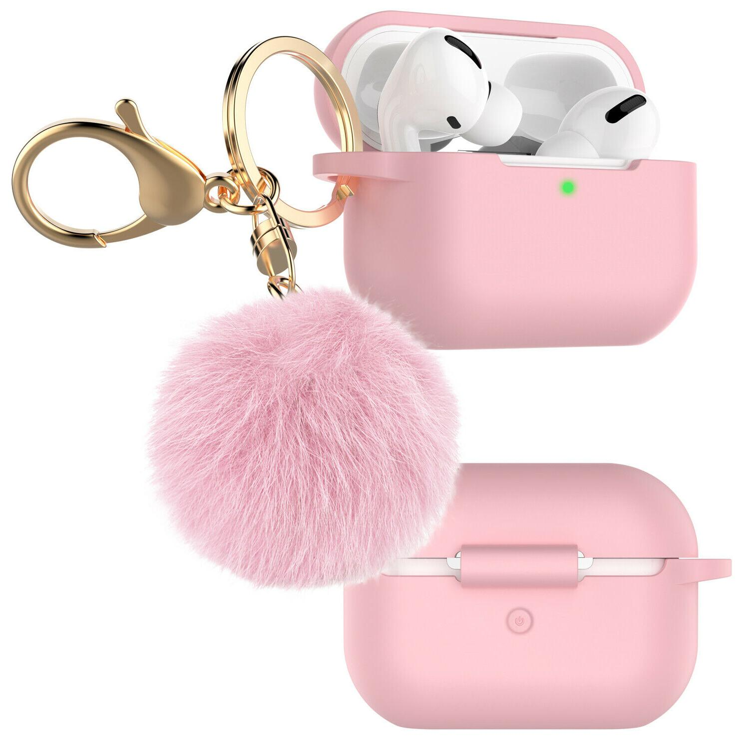 For Silicone Charging Case Cover Skin with Fur