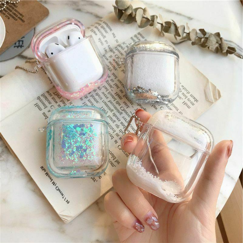 For Apple 1/2 Case, Cute Sparkle, Clear