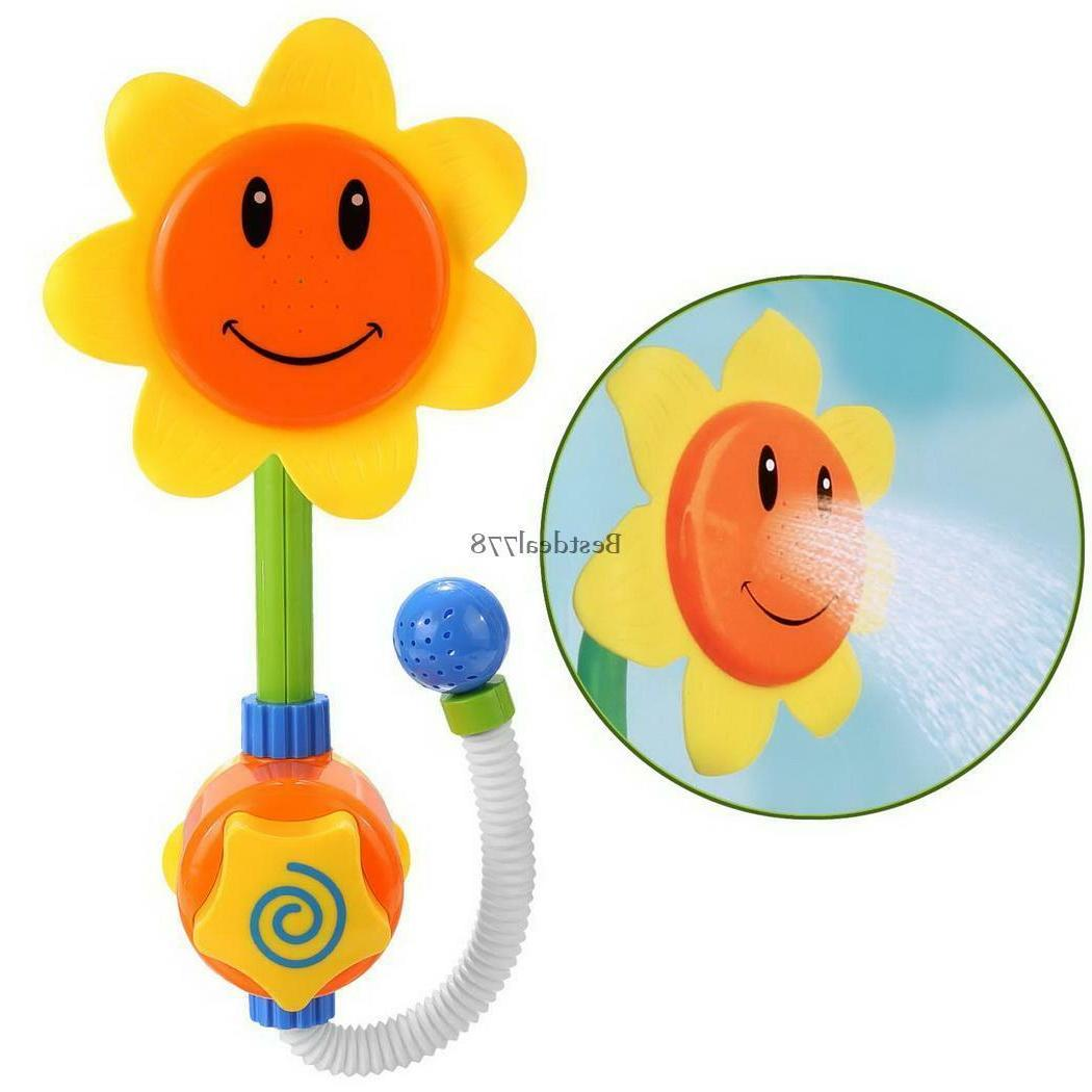 Arshiner Sunflower Shower Faucet Bath Fun Toys for Baby Kids