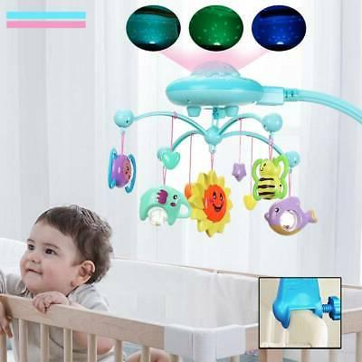 Baby Bed Mobile Musical Cot Crib Rotary Music Box Kid Stars