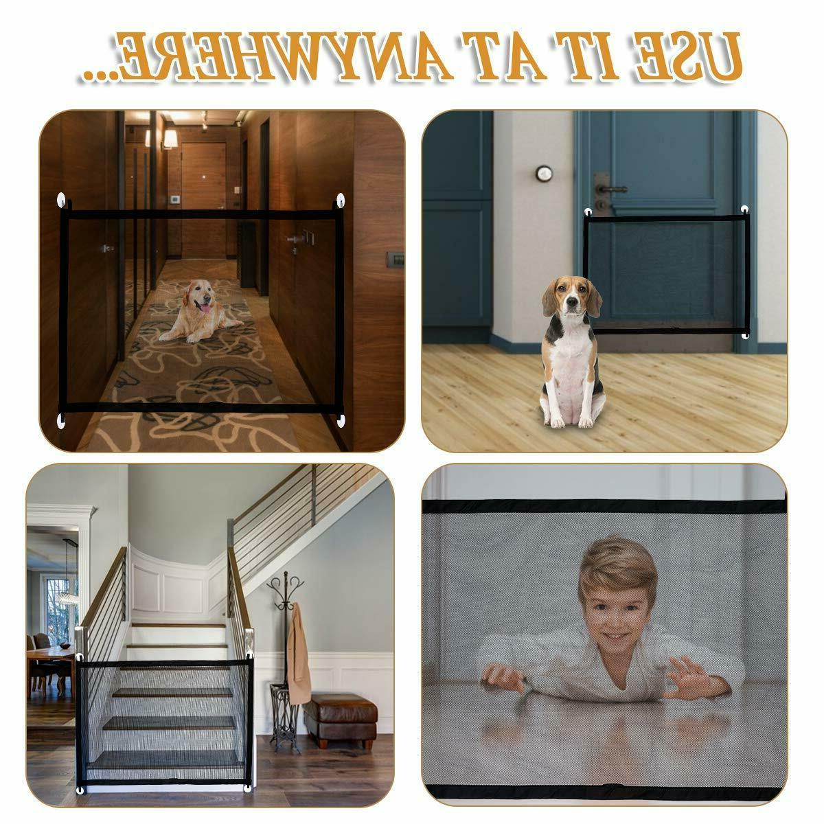Baby Gate Gate for Dogs, Outdoor Retractable