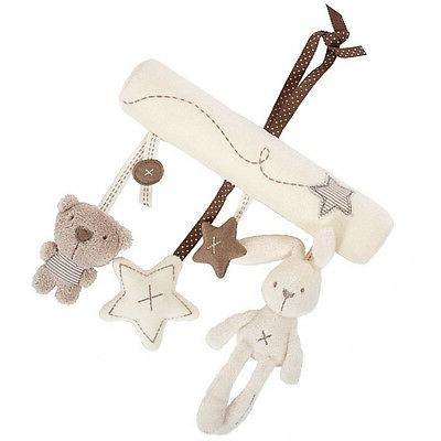 Infant Plush Animal Stroller Music Hanging Bell Toys Doll In